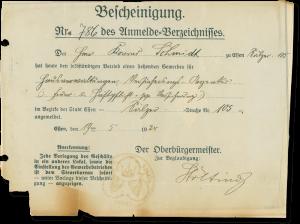 Hausverwaltung Schmidt GmbH Gewerbeanmeldung 1924
