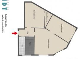 Sehr geräumige 3,5 Raum Wohnung.
