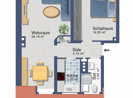 Mit 360° Ansicht! Nähe Universität Duisburg-Essen und Innenstadt. Hübsche Studenten Wohnung.