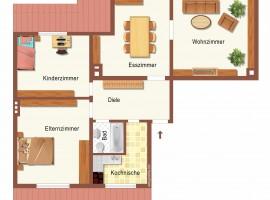 Schöner Altbau! Hübsche Dachgeschoss Wohnung im Südostviertel. Ruhige und bevorzugte Lage!