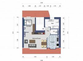 Gemütliche Wohnung unter`m Dach in zentraler Lage!