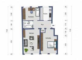 3-Zimmer-Wohnung in zentraler Lage!