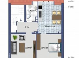 Wohnung mit großer Küche! Gegenüber Elisabeth-Krankenhaus!