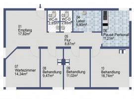 """Arztpraxis/ Büro direkt im Kreuzungsbereich """"Am Fliegenbusch""""!"""