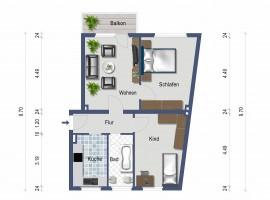 Modernisierte Wohnung mit Balkon in zentraler Lage!