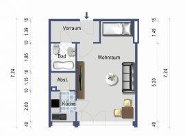 Renoviertes Appartement mit Einbauküche im Zentrum von Mülheim!