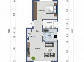 Wohnung mit großem Wohnzimmer! Attraktive Raumaufteilung!