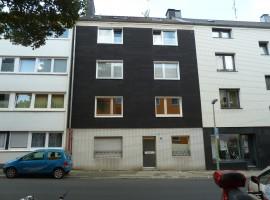 Holsterhausen. Kleine Erdgeschoss Wohnung mit Einbauküche.