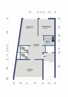 Borbeck-Mitte - Büro-/Praxisräume in Fußgängerzone zu vermieten! Anmietung PKW-Stellplatz möglich!