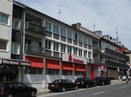 Essen-Werden, Abteistraße, 3 Zimmerwohnung + Wohnküche, mod. Bad + Balkon