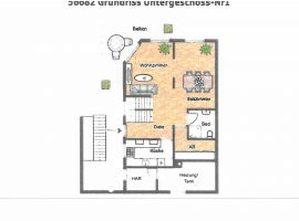 Maisonette Wohnung. Mit 1 Balkon, 1 Balkonterrasse, G-WC und PKW-Stellplatz.
