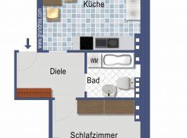 Köln-Deutz. 3 Wohneinheiten mit Balkon zu vermieten. Erstbezug nach Modernisierung.