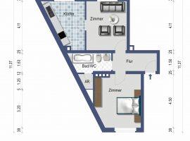 Gepflegte Wohnung mit neuwertiger Einbauküche!