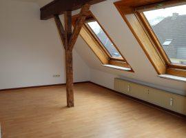 Bezugsfertige Dachgeschoss-Wohnung mit neuem Badezimmer in verkehrsberuhigter Straße!