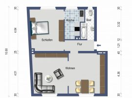 Großzügige 2-Zimmer-Wohnung in zentraler Lage im Zentrum von Essen-Borbeck!