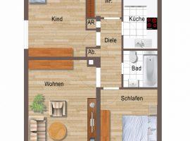 Borbeck an der Dampfbierbrauerei, 3 Zimmer, Küche, Diele, Bad